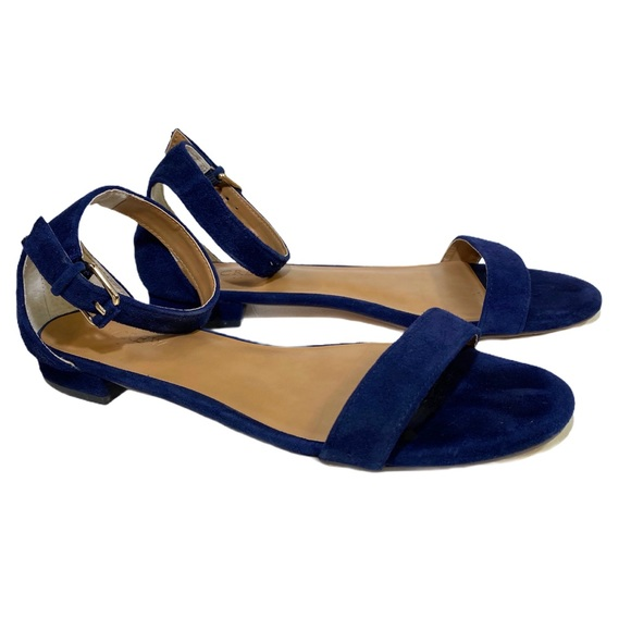 J. CREW Hadley suede ankle-strap sandals Size 8.5